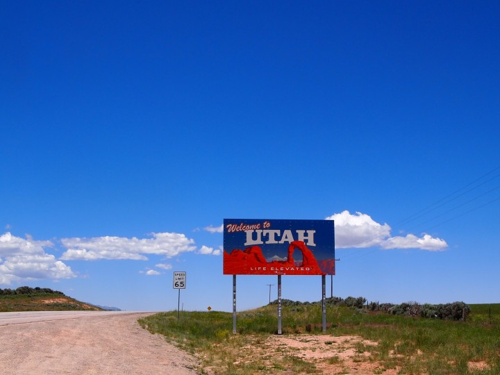 Crossing into Utah