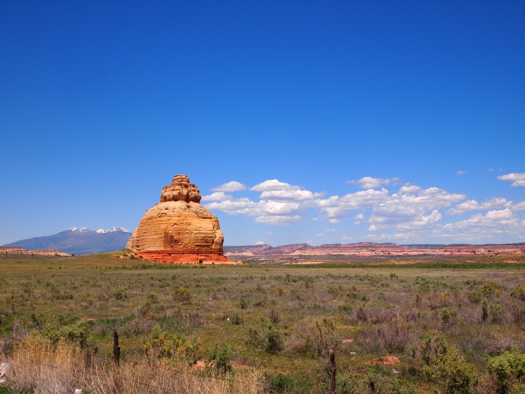 Church Rock on the way to Moab