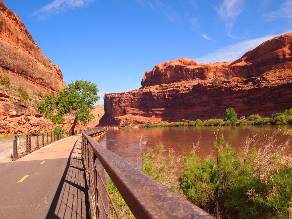 Bike path along the river