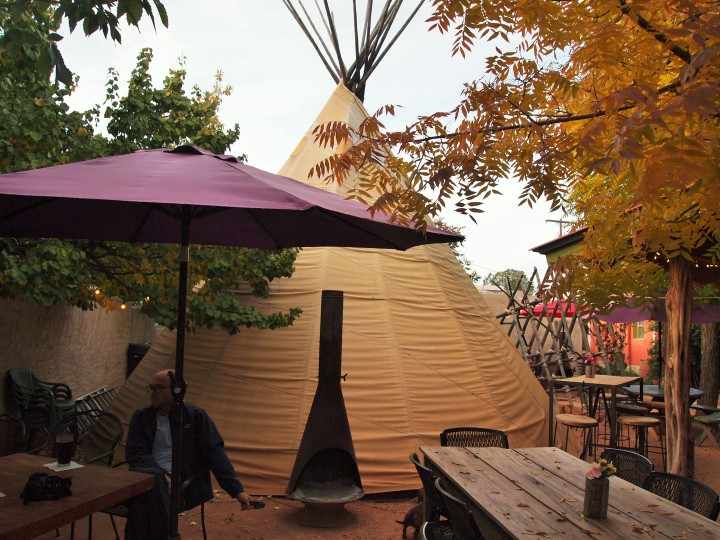 You can sit in the teepee too