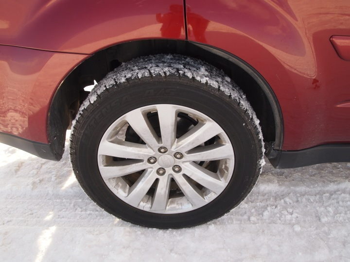 Builds up like fluffy snow on our tires and shoes