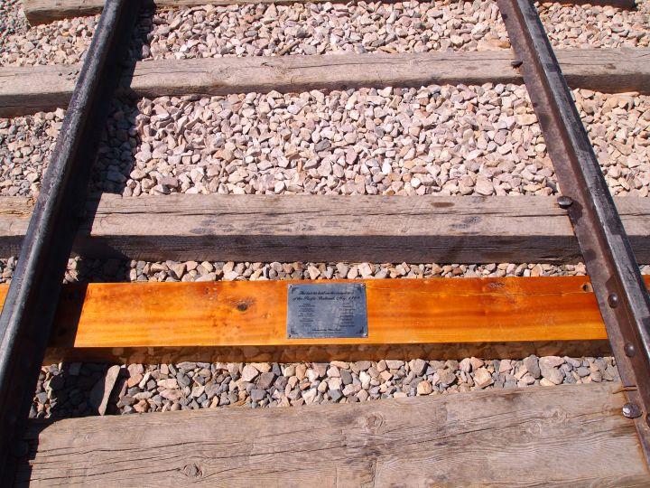 A replica for the final rail laid