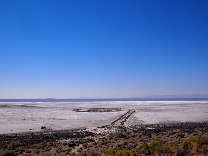Spiral Jetty from parking lot
