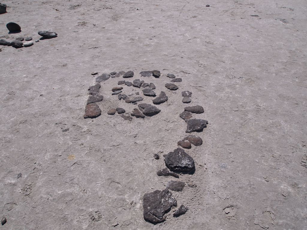 Tiny spiral jetty