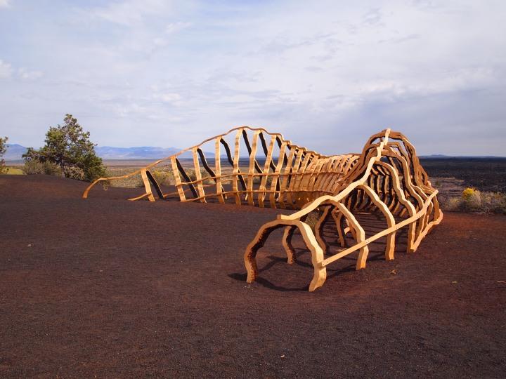 Lava tube sculpture