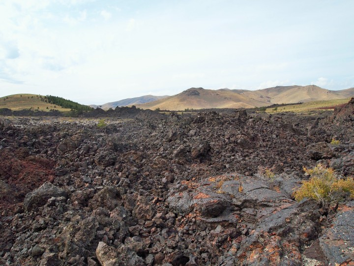 Field of lava flow