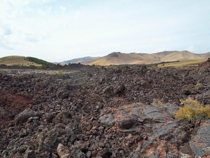Field of lava flow
