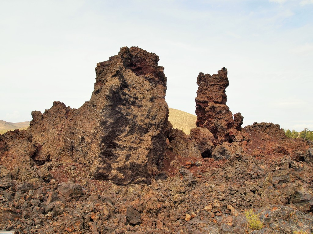 Monoliths that most likely broke off from the North Crater lava flow