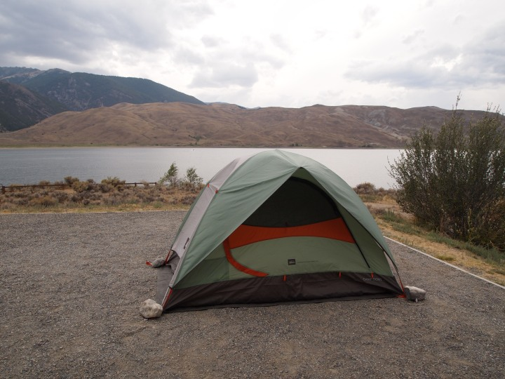 There were four tent sites on the south end of the reservoir