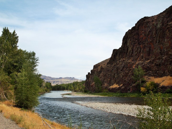 The Salmon River as we left Challis