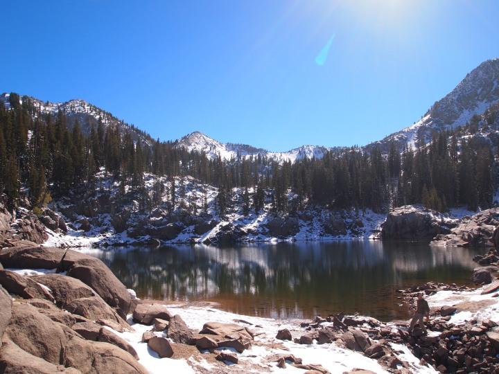 At the lake's edge