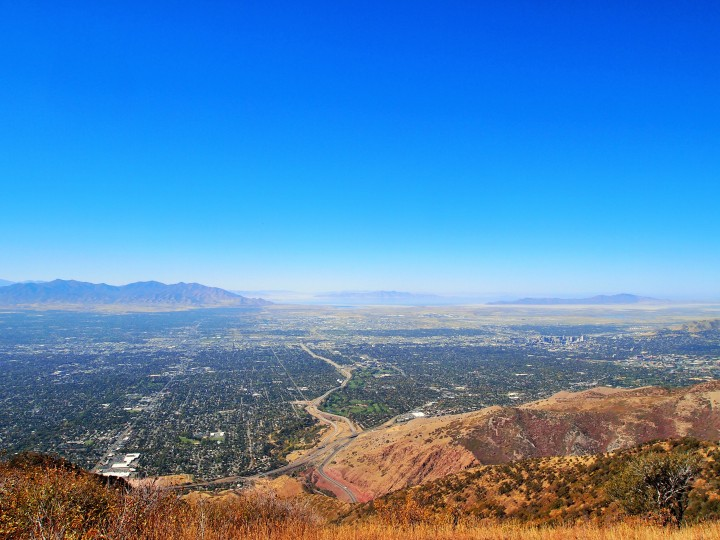 Our view of the Salt Lake Valley from the peak
