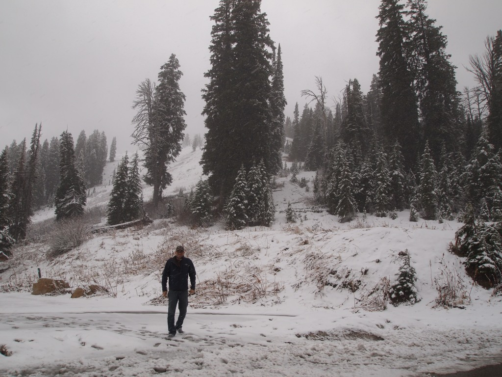 Zach was not dressed for snow