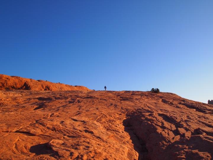 Steep climb up the rock face