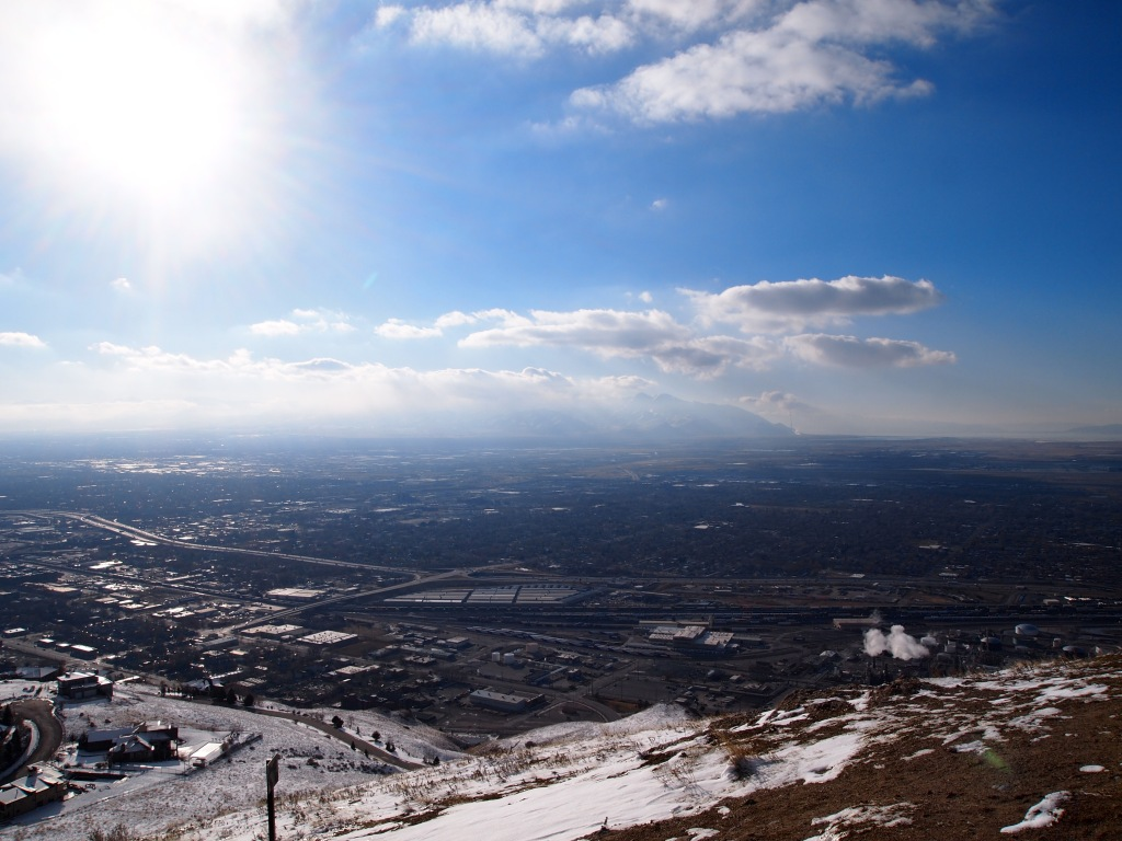 A bit hazy for the Oquirrh Mtns.