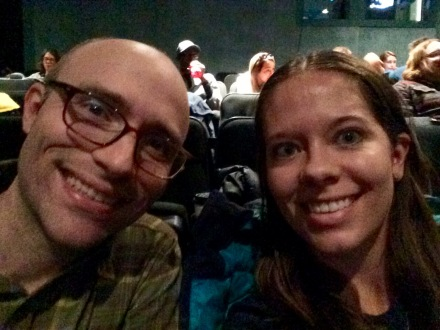 Terrible theater selfie!