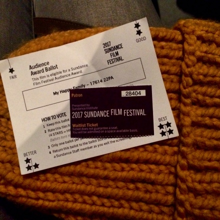 My waitlist ticket stub with the film ballot